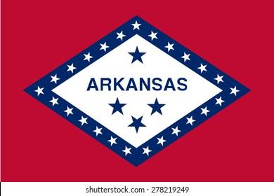 flag of state arkansas