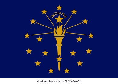 flag of state indiana