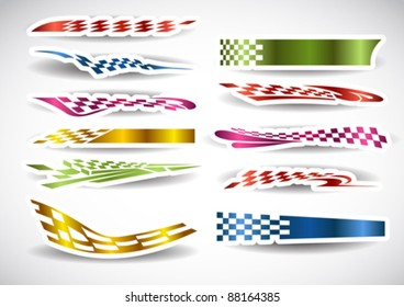 Flag Sticker patterns