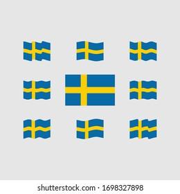 Flag of Sweden Vector Set