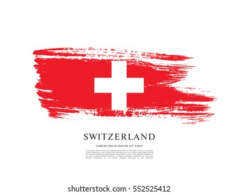 Flag of Switzerland, brush stroke background
