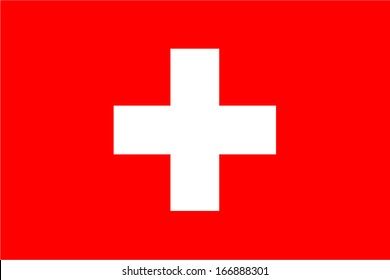 Flag of Switzerland. Vector. Accurate dimensions, element proportions and colors.