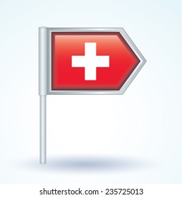 Flag of switzerland, vector illustration