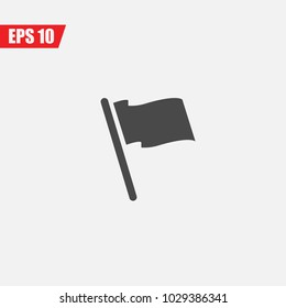 flag symbol vector icon for national and lohos