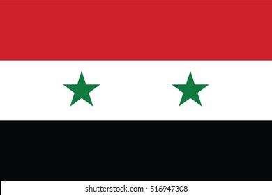 Flag of Syria. Flag of Syria vector page symbol for your web site design Syria flag logo, app, UI. Syria flag Vector illustration, EPS10.