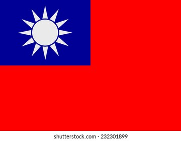 Flag of Taiwan vector illustration