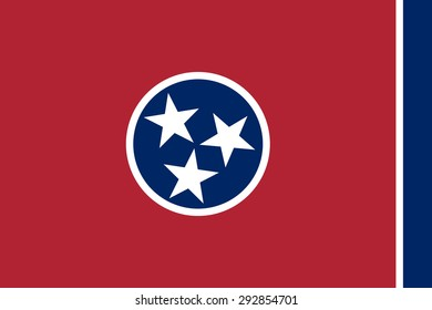 Flag of Tennessee - vector illustration.