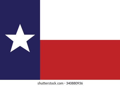 Flag of Texas state of the United States. Vector illustration.