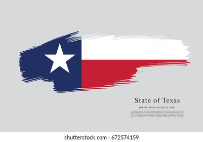 Flag of Texas. United States of America