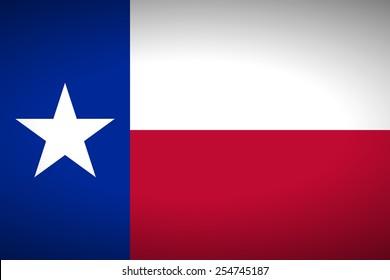 Flag of Texas. Vector illustration.