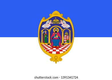 Flag of Tolna is an administrative county in present Hungary as it was of the former Kingdom of Hungary. Vector illustration