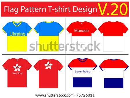 19e22d494 Flag Tshirt Designs Internationally Vector Template Stock Vector ...