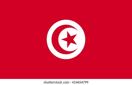 flag of Tunisia vector graphics