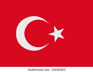 Flag of Turkey vector illustration