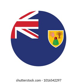 Flag of Turks and Caicos Islands glossy button.