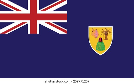 flag of Turks and Caicos Islands Vector illustration