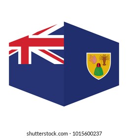 flag of Turks and Caicos Islands,vector illustration of Turks and Caicos Islands flag.