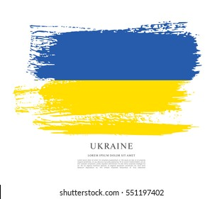 Flag of Ukraine, brush stroke background