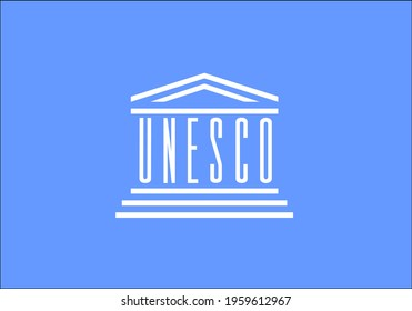 flag of unesco vector - editable flags and maps
