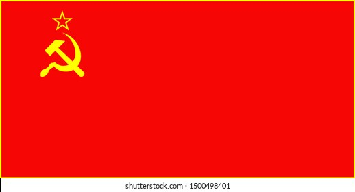 flag of the union of soviet socialist republics (USSR). Can be used in textbooks and atlases, as well as for large scale machine printing and media