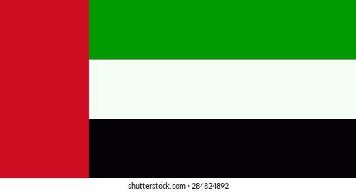 Flag of the United Arab Emirates.