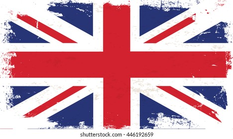 Flag of United Kingdom in the ancient.