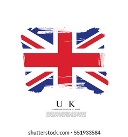Flag of the United Kingdom of Great Britain and Northern Ireland, brush stroke background