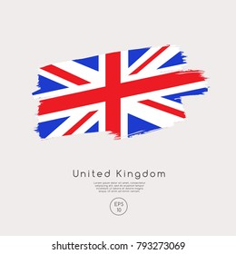 Flag of United Kingdom in Grunge Brush Stroke : Vector Illustration
