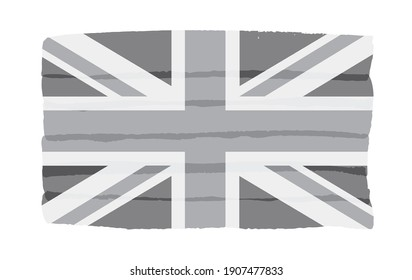 Flag of United Kingdom in grunge style.