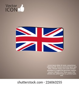 Flag United Kingdom. Made in vector