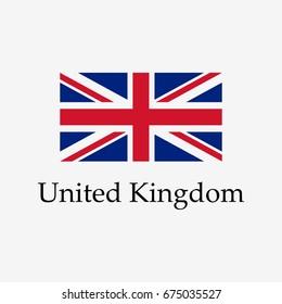 Flag of United Kingdom. Modern design. Vector illustration. EPS10.