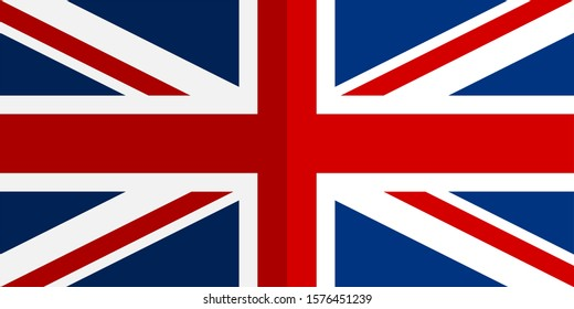flag of united kingdom shiny. vector