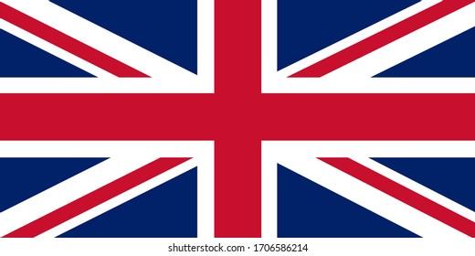 Flag of United Kingdom. Vector