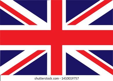 Flag of United Kingdom Vector illustration EPS10