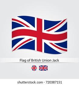 Flag of United Kingdom vector illustration. British Union Jack flag.