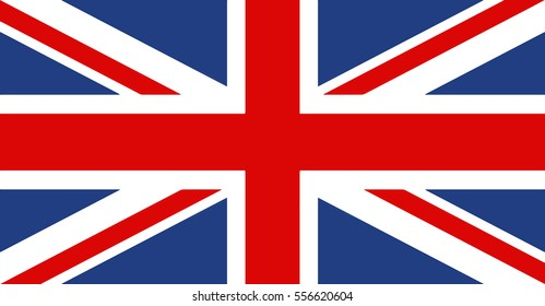 Flag of United Kingdom.Vector British flag.