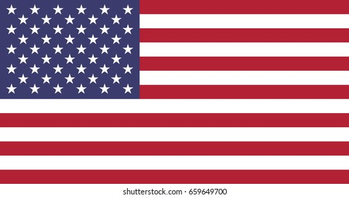 Flag of the United States. 50 stars and 13 stripes. Vector, eps 10.