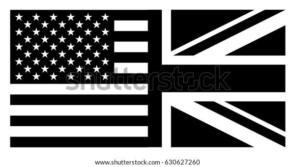 Flag United States America United Kingdom Stock Vector ...