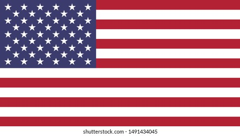 Flag of United States of America, National United States of America flag.