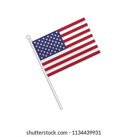 Flag of United States of America. Flag of North America. isolated on a white background.