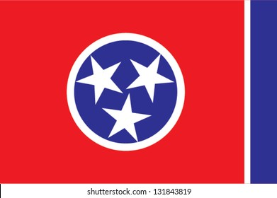 The flag of the United States of America State Tennessee