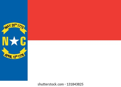 The flag of the United States of America State North Carolina