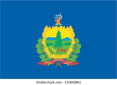 The flag of the United States of America State Vermont