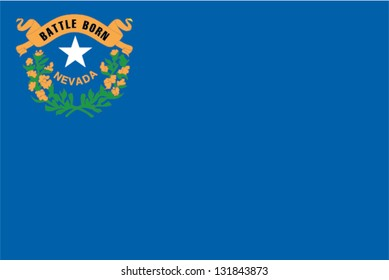 The flag of the United States of America State Nevada