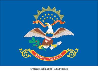 The flag of the United States of America State North Dakota