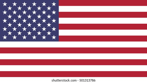 Flag of United States of America, USA. Vector