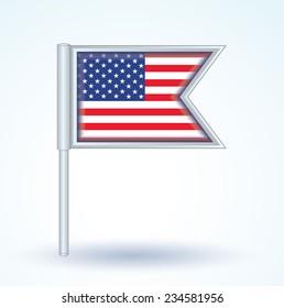 Flag of United states of america, vector illustration