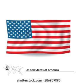 Flag of United States of America - vector illustration