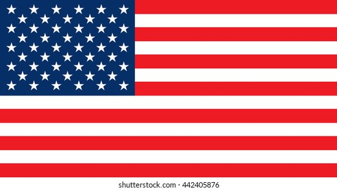 Flag of the United States of America in vector format.
