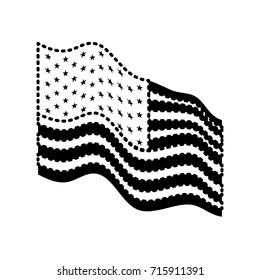 Us Flag Waving Black Background Stock Illustrations Images